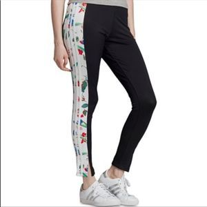 NWT Adidas Floral Stripe Leggings